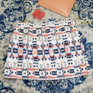 Old Navy Skirts - Old Navy Aztec Print Mini Skirt Cream Coral Navy